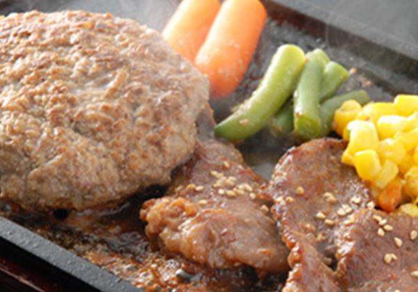 米沢牛ハンバーグと味噌焼肉セット