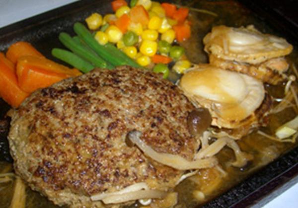 米沢牛ハンバーグとグリル帆立セット