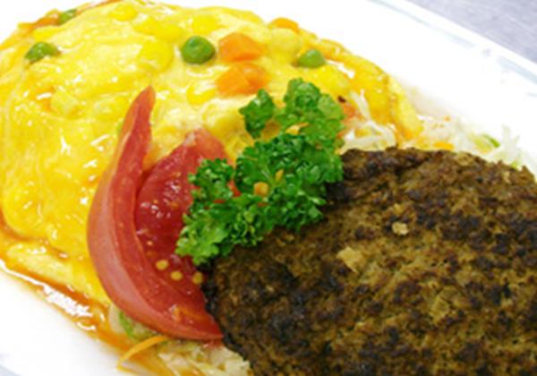 米沢牛ハンバーグとオムハヤシライスセット