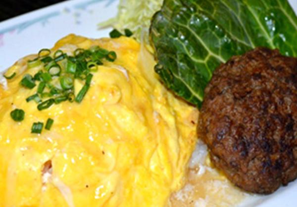 米沢牛入りオムチャーハンと米沢牛のハンバーグセット