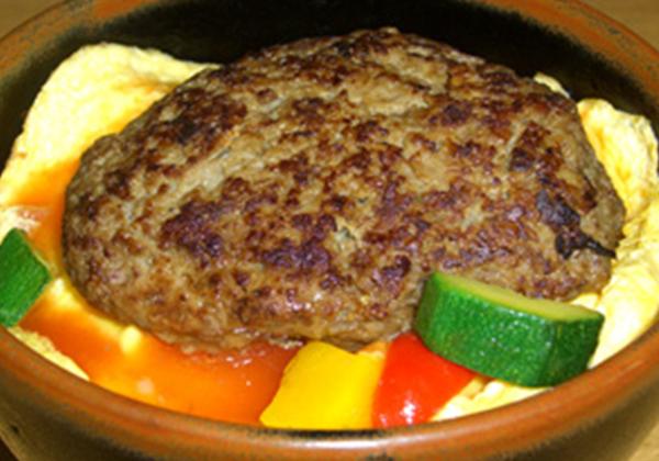 卵かけ米沢牛ハンバーグ丼セット